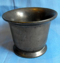 Mortar antique heavy brass