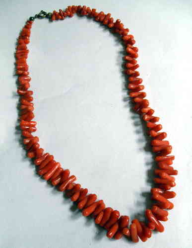 Coral necklace or choker