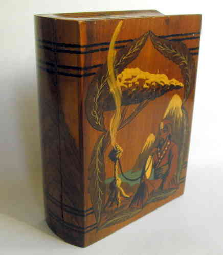 Book shaped box w pictorial
