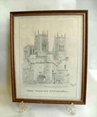F Barnet York Minster drawing