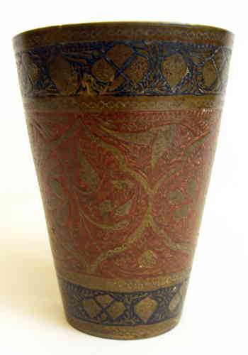 Anglo Indian engraved beaker