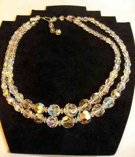 2 strand harlequin necklace