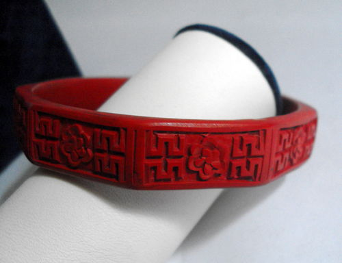 Faux cinnabar bangle