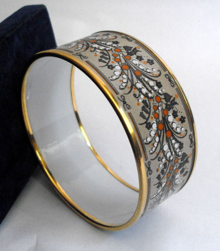 Michaela Frey enamelled bangle