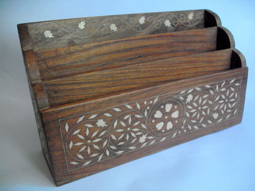 Large Anglo Indian letter rack