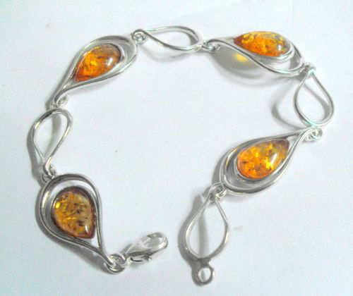 Silver 925 and amber bracelet