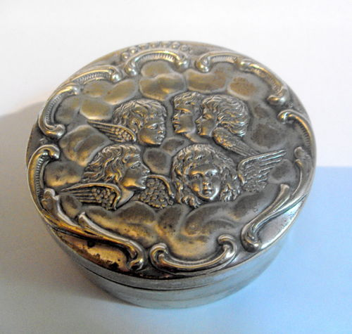 Small oval cherub cufflink box