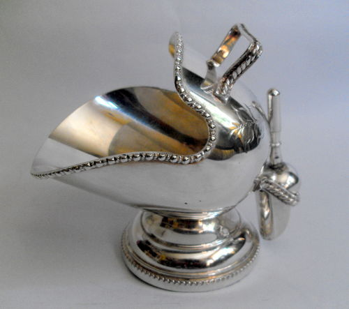 Scuttle shaped sugar bowl