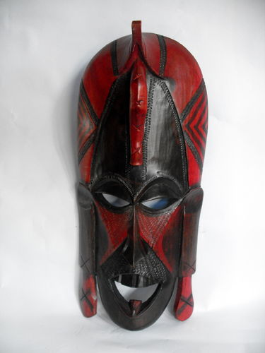 Carved African wall mask