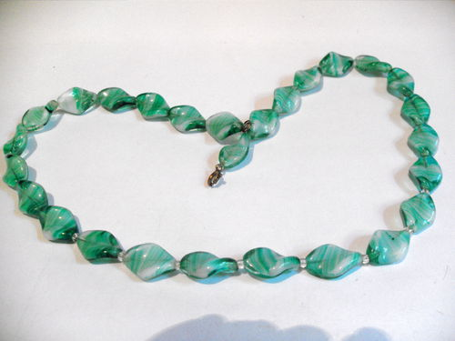Lozenge glass necklace