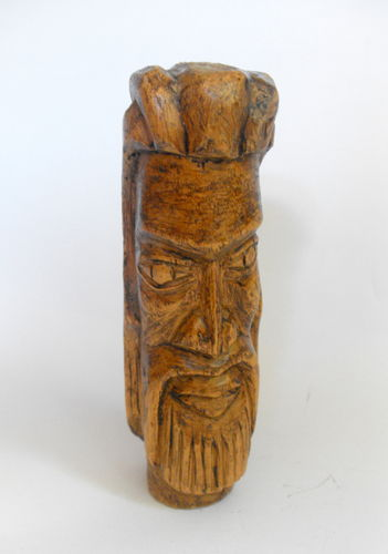 Carved lightwood head