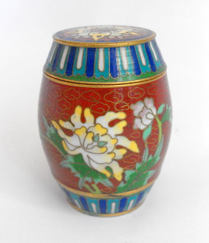 Cloisonne lidded box