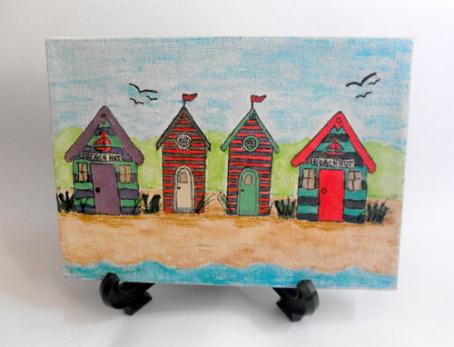 Original Beach Huts painting