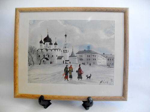 Original art European scene