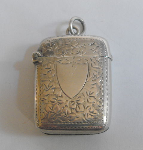 Antique hallmarked silver vesta