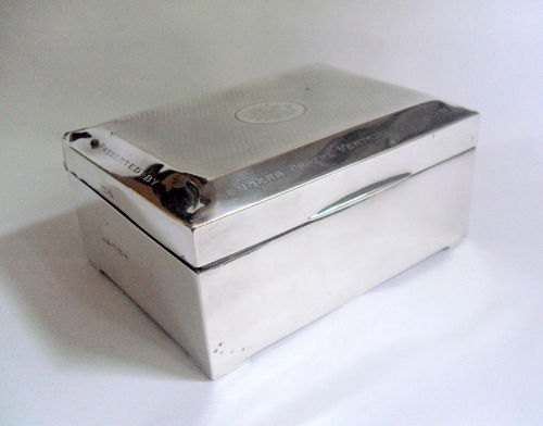 Hallmarked Silver Cigarette Box