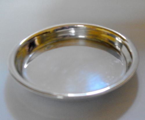 Solid Silver coin or card dish