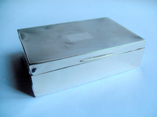 Hallmarked silver and wood box