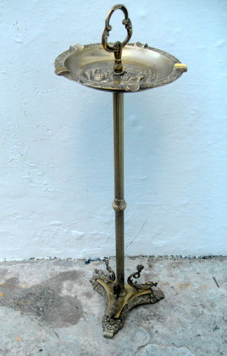 Tall brass ashtray stand