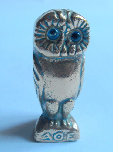 Small heavy owl desk weight 3
