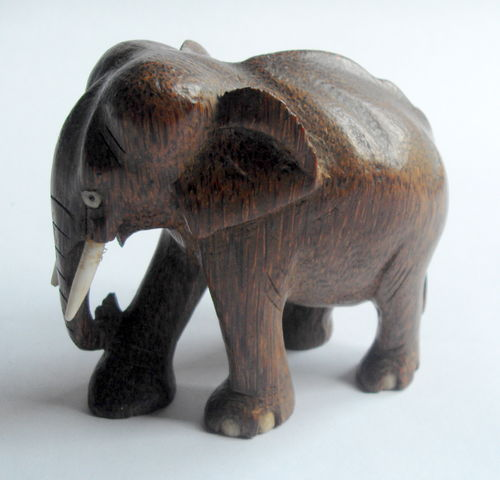 Carved elephant desk weight 2