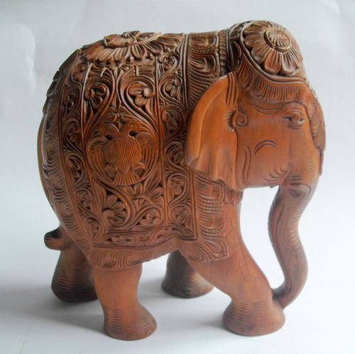 Large heavy carved elephant 2