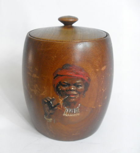 S African stinkwood pot / cover