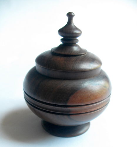 Turned wood trinket box 2