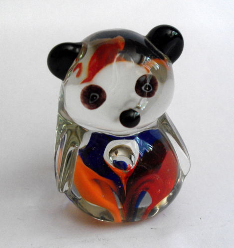 Art glass bear deskweight 02