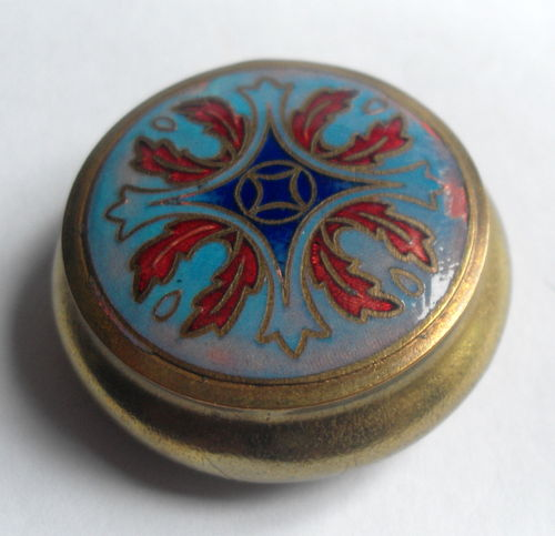 Small enamelled powder pot