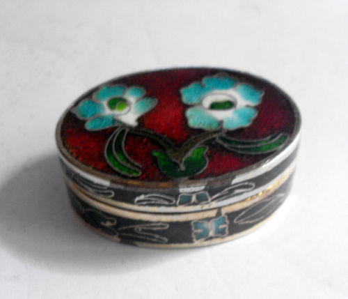 Cloisonne pill box