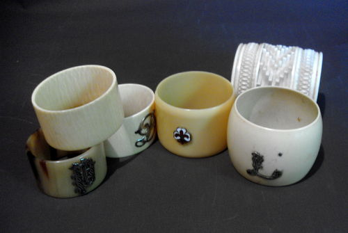 Small collection napkin rings