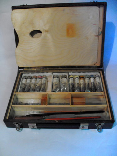 Artists Box with various paints