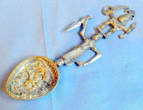 Anglo Indian embossed spoon 2
