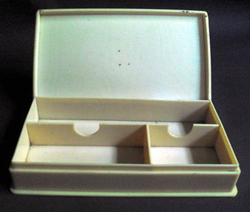 Faux ivory seal box