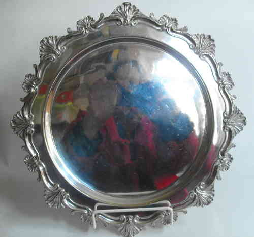 Embossed Silverplated salver