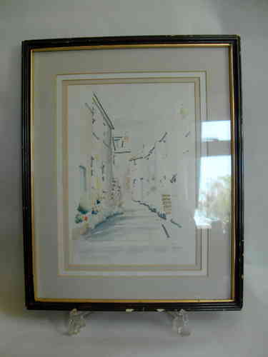 John Dean watercolour Virgin St