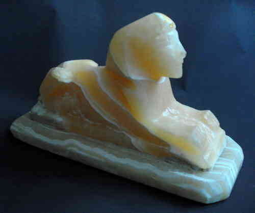 Large onyx Sphinx deskweight 2