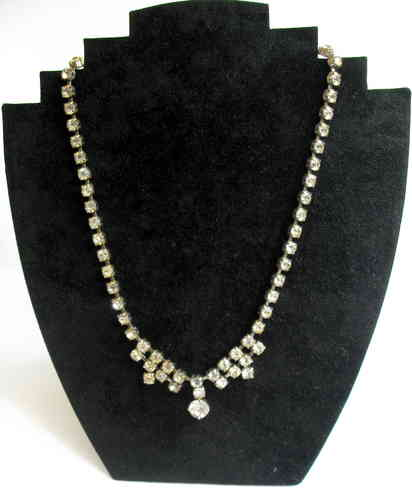 Diamante rhinestone necklace-3