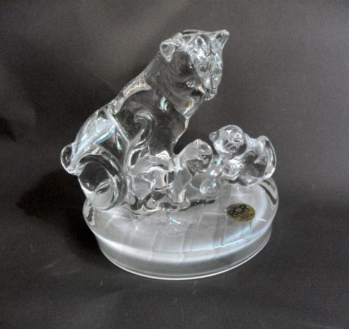 Crystal cat / kitten deskweight