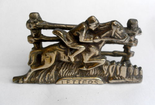 Horse and jockey card holder