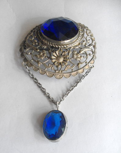 Asian or Indian filigree brooch