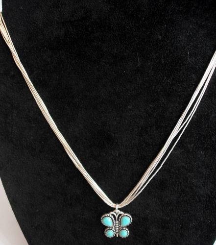 Silver butterfly pendant chain