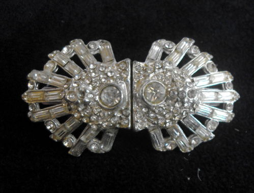 Diamante duette brooch