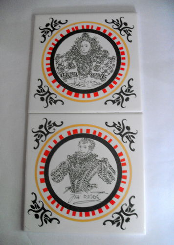 Ceramic tiles QE1 and Drake