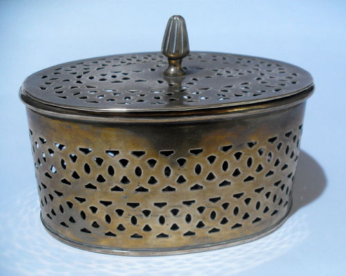 Indian pierced brass box